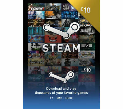 STEAM Wallet Card - £10 - Currys • 10£