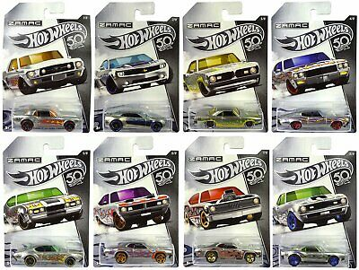 Hot Wheels 50th Anniversary Zamac Full Set Of 8 MOC Complete Collection • 17£