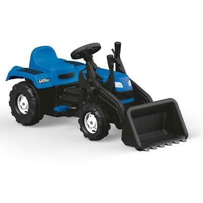 Dolu Ranchero Tractor W/ Excavator Pedal RideOn Kids Boys Blue Outdoor Toy 3Yrs+ • 49.99£
