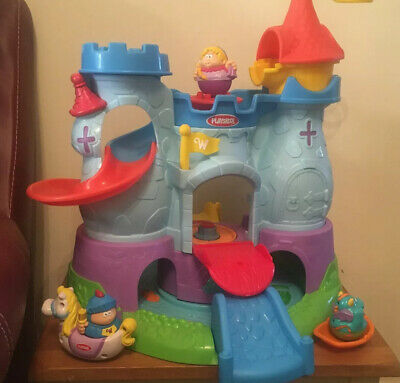 Hasbro Playskool Weebles Weebalot Castle Playset You 3 Figures And A Horse • 17.99£