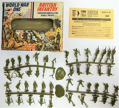 Vintage First Series Airfix S27-59 1/72 WW1 British Infantry - Boxed - (3401) • 21.99£