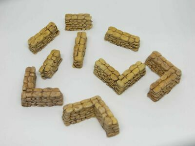 20mm 1/72 1/76 Resin Sandbags - Corner And Straight Sections  • 4.49£