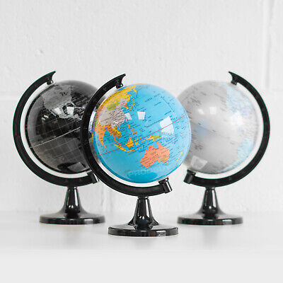 22.5cm Plastic Rotating World Globe Map Atlas Kids Childrens Bedroom Decoration • 9.99£