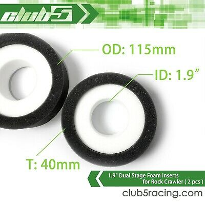 Dual Stage Foam For 1.9  Crawler Tire ( 2 Pcs ) • 8.77£