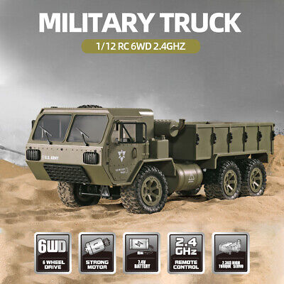 Fayee Army Military Truck 1/12 All Terrain 2.4Ghz Off Road 6WD RC Truck Toy V3O3 • 43.64£