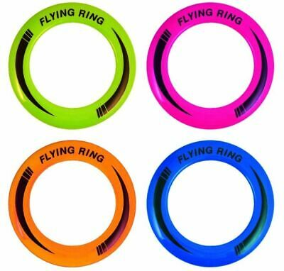 10  Neon Flying Ring Disc Frisbee Flyer Adult Kids Family Dog Outdoor Toy 25cm • 2.99£