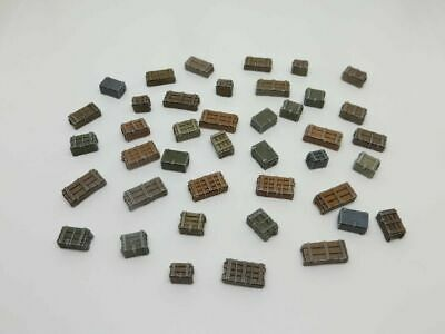 20mm 1/72 1/76 Crates & Boxes - Large Set Of 41 Pieces - Stowage/diorama - HO OO • 4.99£