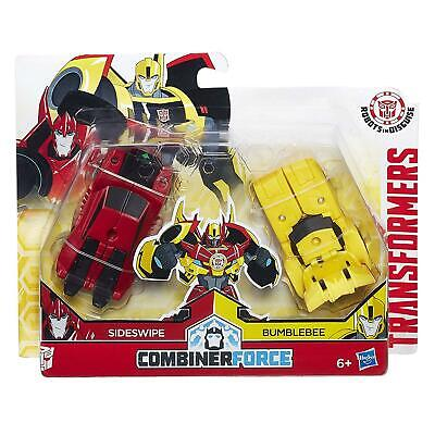 Transformers Robots In Disguise Combiner Force Sideswipe & Bumblebee Toy C0630 • 14.95£