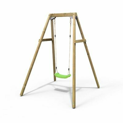 Rebo Active Range Wooden Garden Single Swing Set – Green • 129.95£