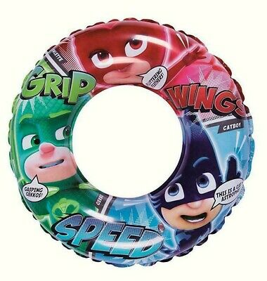 PJ Masks Inflatable Swimming Ring Swimming Pool Float Beach Holiday 51cm • 7.99£