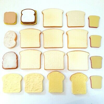 Children's Pretend Play Food Bundle Of 20 Bread Toast & Sandwiches Toys • 13.74£