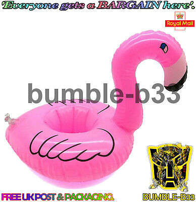 Inflatable Pink Flamingo Drink Holder Floating Can Cup Hot Tub Pool Bath Toy • 1.87£