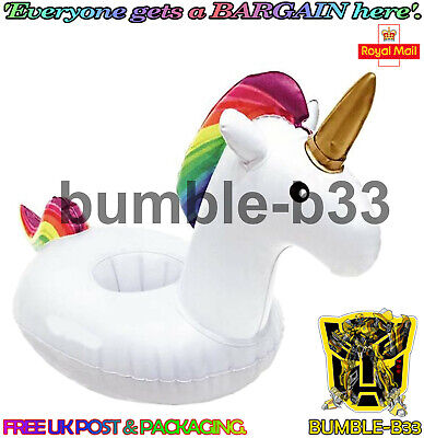 Inflatable Unicorn Floating Drink Can Cup Holder Hot Tub Swimming Pool  • 1.87£