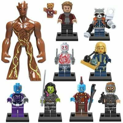 10 X MINI FIGURES FIT LEGO MARVEL GUARDIANS OF THE GALAXY AVENGERS MINIFIGS 2020 • 19.99£