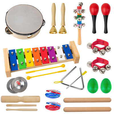 Kmise Orff Musical Toys Bundle For Kids Toddlers + Tambourine Maraca Xylophone.. • 19.99£