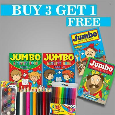 Activity Book Books A4 Kids Colouring Pencils Over 144 Pages For Kids Childrens • 4.99£