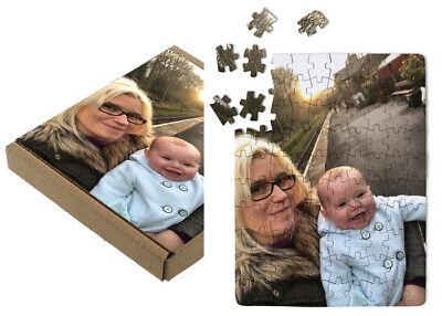 Personalised Photo Puzzle Jigsaw With Printed Box - A5 - A4 - A3 Perfect Gift • 8.50£