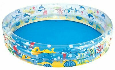 Bestway Childrens Kids 3 Ring Swimming Paddling Pool 60  Garden Play Pool • 17.99£