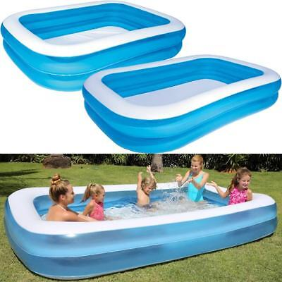 Large Family Swimming Pool Outdoor Garden Summer Inflatable Kids Paddling Pools • 37.99£