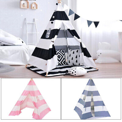 Cotton Canvas Kids Teepee Tent Childrens Wigwam Indoor Outdoor Play House Large • 16.99£