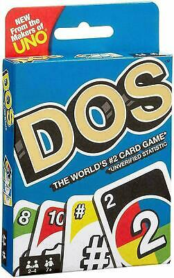 DOS Card Game Cards Wild Card Game From The Makers Of Uno Mattel Free Post UK • 2.40£
