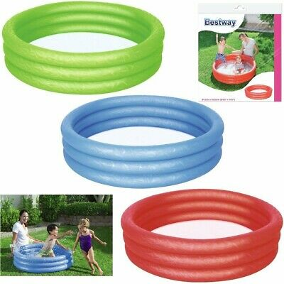 Bestway Childrens Kids Paddling Swimming Pool 102cm Colourful Garden Play Pool • 9.99£