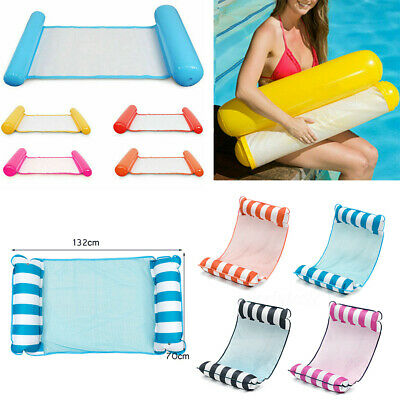 Inflatable Floating Water Hammock Float Pool Lounge Bed Swimming Chair BeacAR • 9.99£
