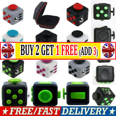 Fidget Cube Spinner Toy Children Desk Adult Stress Relief Cubes Camo AR UK STOCK • 4.99£