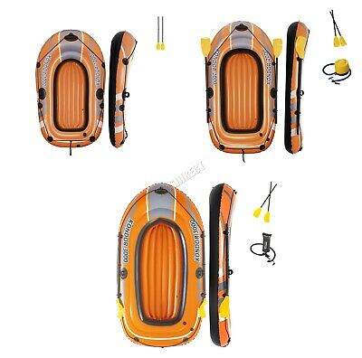 BestWay Inflatable Boat KONDOR Rubber Raft Set With Oar And Pump Multiple Sizes • 26.99£