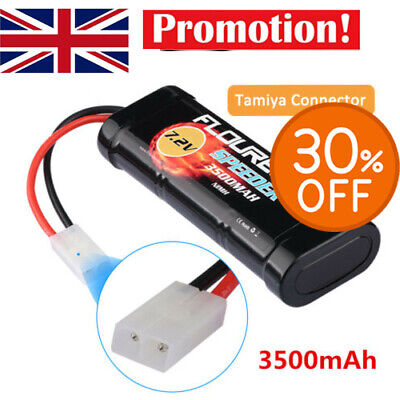 7.2V 3500mAh NiMH 6 Cell Rechargeable RC Battery Pack With Tamiya Plug UK • 17.99£