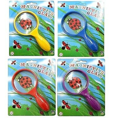 Kids Childrens 15cm Magnifying Glass Bug Viewer Science Toy Xmas Stocking Filler • 2.99£
