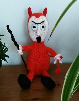 Little Red Devil - Hand Knitted Soft Toy • 22.50£