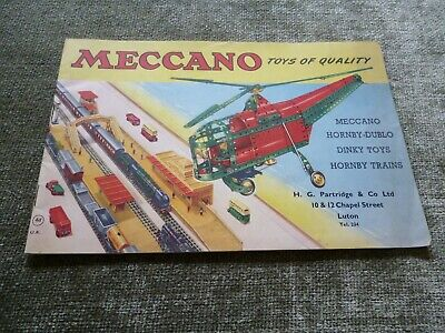 Meccano Dinky Toy Diecast Car Trains Hornby Catalogue Advertising Pricelist 1956 • 19.99£