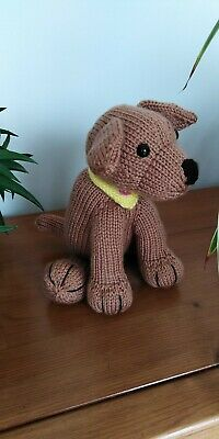 Staffordshire Bull Terrier / Staffy Puppy Dog Hand Knitted Cuddly Soft Toy • 20£