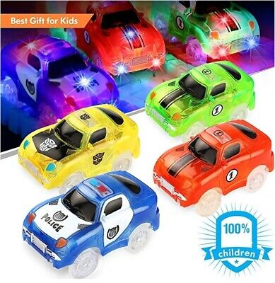 Track Cars For MAGIC TRACK GLOW IN THE DARK LED LIGHT UP RACE CAR (4 X Cars)  • 19.99£