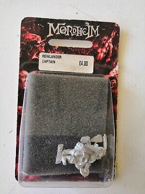 Mordheim Reiklander Captain Empire Freeguild BNIB Blister Metal Rare OOP • 25£