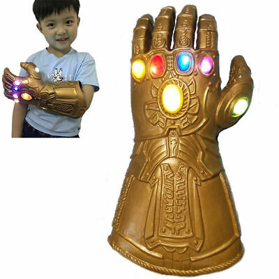 Kid Thanos Infinity Gauntlet Glove LED Light Glove Fancy Dress Toy • 14.24£