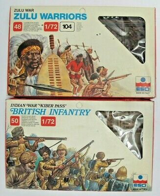 1983 1/72 Esci Zulu Warriors + British Infantry - Boxed - (2) • 15.99£