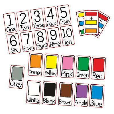 Numbers Colours Flash Cards Kids Toddlers Preschool Early Learning Resource EYFS • 3.79£