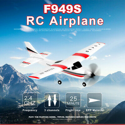 Wltoys F949 2.4G 3Ch RC Airplane Helicopter Fixed Wing Plane Age 14+ Outdoor 🚀 • 37.77£