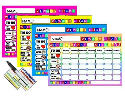 REWARD CHART BEHAVIOUR  With FREE PEN AND STAR STICKERS MAGNETIC • 5.49£