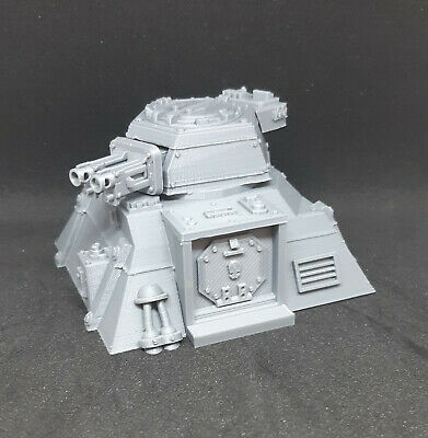 28mm Scale Scenery - Heavy Bolter Defense Turret - Kill Team, Warhammer 40K Etc. • 12.99£