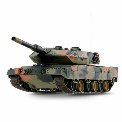 New 2.4G RC 1:24 Heng Long Leopard 2A6 Airsoft Tank Remote Control InfraRed V5 • 59.99£