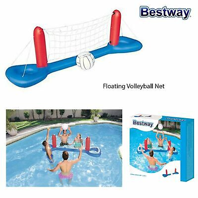 Bestway Inflatable Floating Volleyball Net Summer Outdoor Swimming Pool Game • 14.99£