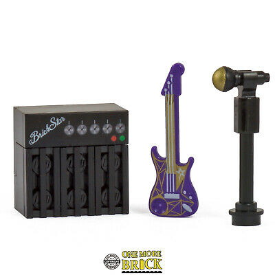 Guitar, Amp, & Microphone Stand | Band Music | All Parts LEGO • 5.99£