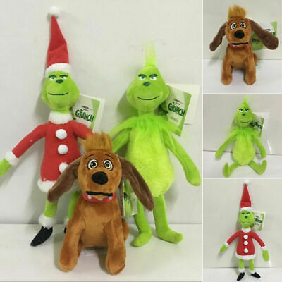 3PCS 12  Grinch Plush Doll How The Grinch Stole Christmas Kids Stuffed Toy Gift • 5.99£