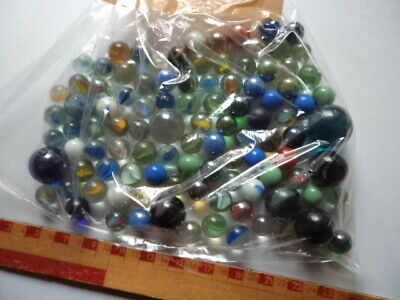 Joblot Of 100 Colourful Glass Marbles - Lot B • 5.99£