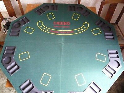 Fold Up Octagonal Poker / Card Table Top > 47 1/2  Wide • 30£