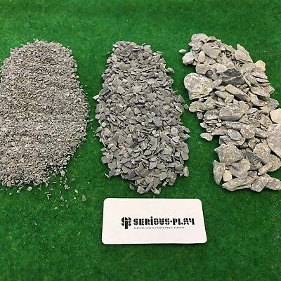 Fine Slate & Pieces  - Model Scenery Scatter Railway Warhammer Basing Materials • 1.75£