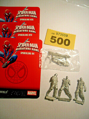 Knight Models Marvel Miniatures Game Spiderling Minions Spiderman Foe Y500 • 45£